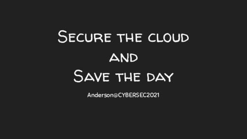 拯救你的雲端安全